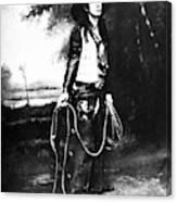 Cowboy, C1880 Canvas Print