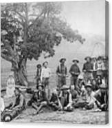 Cowboy Camp, C1890 Canvas Print