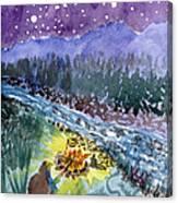 Cowboy Campout Canvas Print
