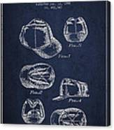Cowboy Cap Patent - Navy Blue Canvas Print