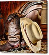 Cowboy Gear Canvas Print