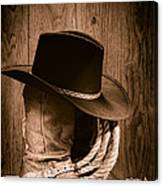 Cowboy Hat And Boots Canvas Print