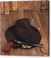 Cowboy Hat And Gun Canvas Print