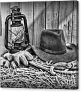 ae54ba925f925 Cowboy Hat And Rodeo Lasso In A Black And White Poster by Paul Ward