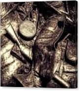 Cowboy In Bronze Canvas Print