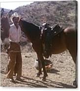 Cowboy Ready To Work Canvas Print