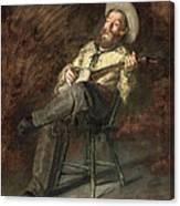 Cowboy Singing Canvas Print