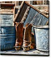 Cowboys Have Laundry Too Canvas Print