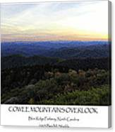 Cowee Mountains Overlook Canvas Print
