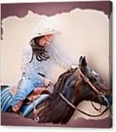 Cowgirl Barrel Racing 2 Canvas Print