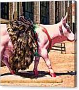 Cow Parade N Y C 2000 - Prima Cowlerina Canvas Print