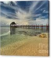 Cozumel Beach Paradise Canvas Print