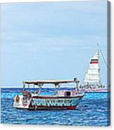 Cozumel Excursion Boats Canvas Print
