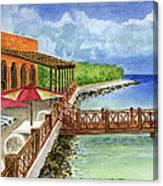 Cozumel Mexico Little Pier Canvas Print