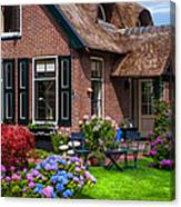 Cozy Corner. Giethoorn. Netherlands Canvas Print