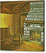 Cozy Fireplace At Lake Hope Ohio Canvas Print