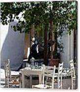 Cozy Greek Taverna Canvas Print