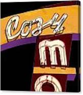 Cozy Mo - Black Canvas Print