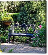 Cozy Southern Garden Bench Canvas Print