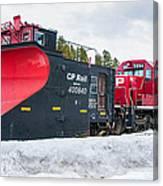 Cp Rail Plow Canvas Print