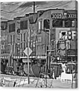 Cp Rail Train Bwtr9099-12 Canvas Print
