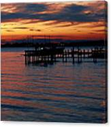 Crab Alley Sunset Canvas Print