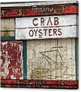 Crab And Oysters Canvas Print