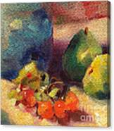 Crab Apples And Pears Canvas Print