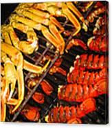 Crab Vs. Lobster Canvas Print