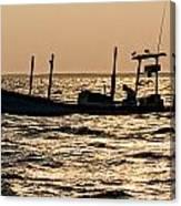 Crabbing On The Bay Canvas Print