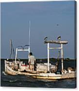 Crabbing Smith Island Md Canvas Print