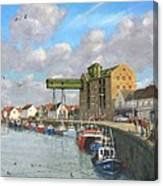 Crabbing - Wells-next-the-sea Norfolk Canvas Print