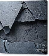 Cracked Asphalt Macro Canvas Print