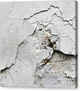 Cracked Stucco - Grunge Background Canvas Print