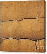Cracked Yellow Wall Canvas Print