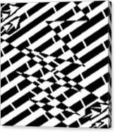 Cracks In The Pavement Maze  Canvas Print