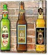 Craft Beer Collection On Brick Canvas Print