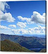 Craggy Gardens Draped In Clouds Canvas Print