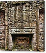Craigsmillar Castle Fireplace Canvas Print