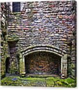Craigsmillar Castle Kitchen Fireplace Canvas Print