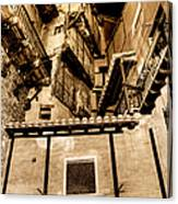 Crammed Floors In Albarracin Canvas Print