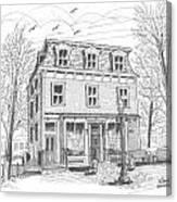 Cranberry's Cafe Circa 1884 Canvas Print