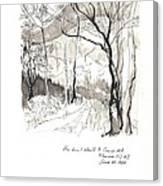 Crane Mtn Trailhead Canvas Print