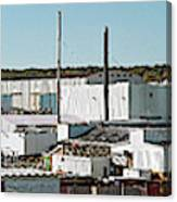 Cranes At Metal Factory, Bath Canvas Print