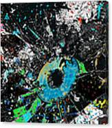 Crash Of The Eye Galaxy Canvas Print