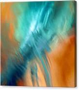 Crashing At Sea Abstract Painting 4 Canvas Print