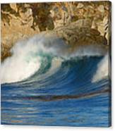 Crashing On The Cliff Canvas Print