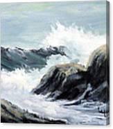 Crashing Sea Canvas Print