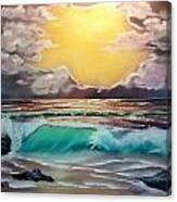 Crashing Wave At Sunrise Canvas Print