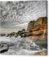 Crashing Waves At Cape Kiwanda Canvas Print